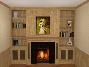 cabinetry Drackett fireplace