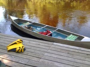 canoe at the dock