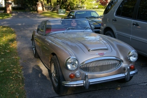 My friend Rich in his Austin Healey